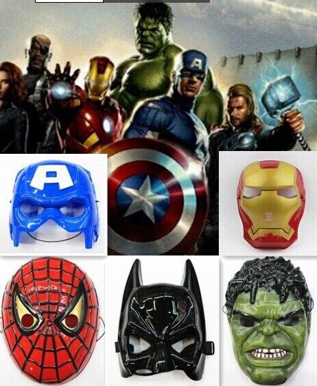 superheros mask avengers mask america captain batman iron man hulk spiderman mask men women adult children