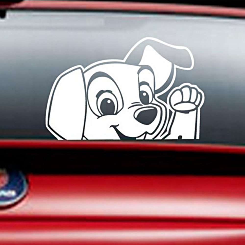 Car window sticker designs - Car Stickers And Decals Universal Auto Motorcycle Sticker Cute Puppy Dog Car Window Decor Car