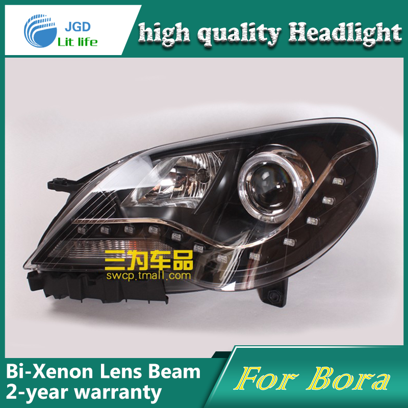 high quality Car Styling for VW Bora 2008-2011 Headlights LED Headlight DRL Lens Double Beam HID Xenon Car Accessories hireno headlamp for 2016 hyundai elantra headlight assembly led drl angel lens double beam hid xenon 2pcs
