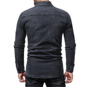 Black Slim Long Sleeve Shirts  5