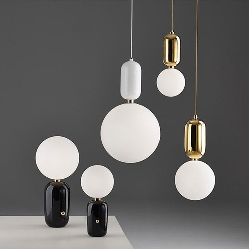 Modern brief America dining room glass ball pendant light fixture Nordic DIY home deco living room iron E27 bulb pendant lamp 2016 antique wrought iron pendant light e27 bulb 40w home deco lights dining lamp free shipping