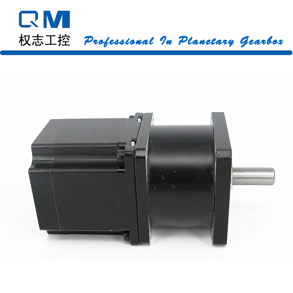 Planetary reduction gearbox ratio 5:1 with nema 23 stepper motor L=54mm for CNC cnc robot pump