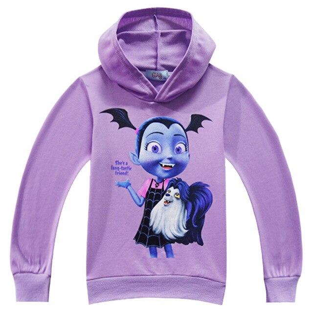 2018 Baby Girls Vampirina Hoodies Spring Fall Costumes Kids Cotton Thin Tops Clothes Long Sleeve T Shirts Children's Sweatshirt