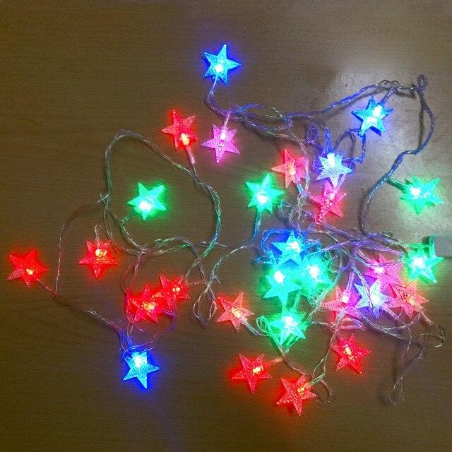 Us 17 25 Led Flash String Lights Ster 10 M 100 Stks Led Ac110 220 V Fairy String Lights Garden Outdoor Party Kerstverlichting In Led Flash String