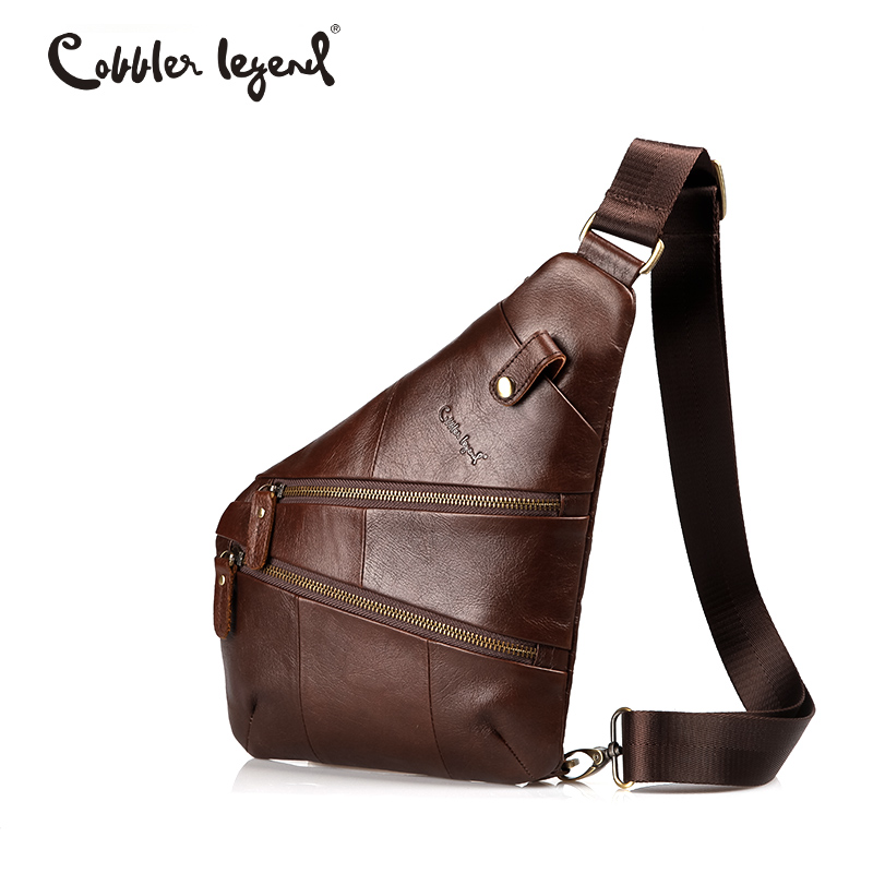 Cobbler Legend Vintage Sling Genuine Leather Messenger Bag For Men Shoulder Bags for Men Crossbody bags Travel Male casual canvas satchel men sling bag