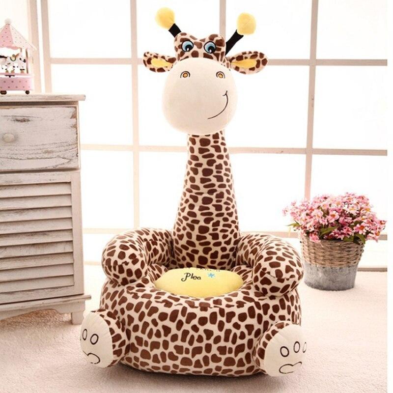 Asientos de niños de dibujos animados sofá cómodo PP algodón Animal jirafa pequeño tamaño grande bebé silla portátil regalos para niños