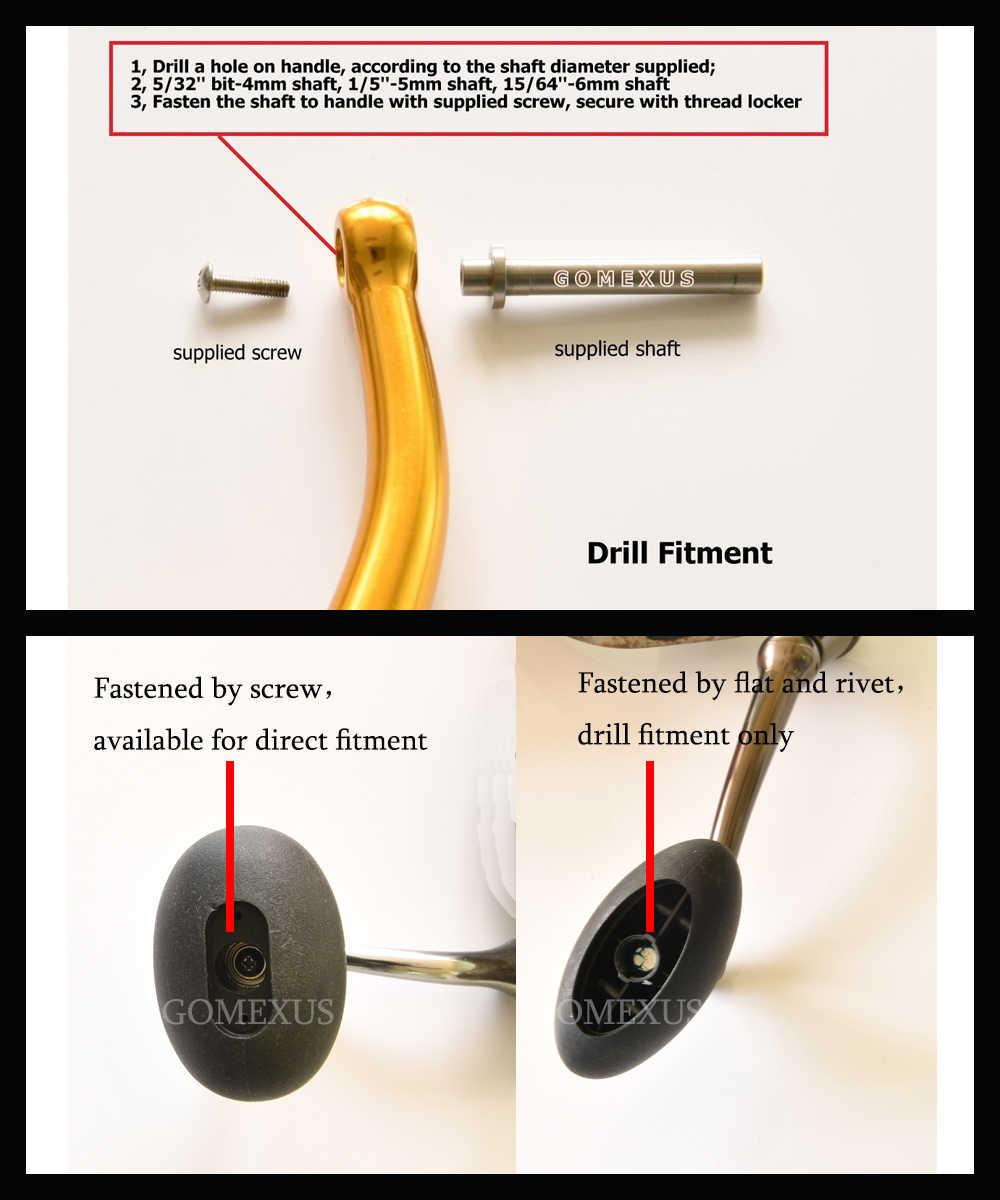 Gomexus Power Handle Knob 47mm For Penn Spinfisher Battle Penn Z Torque Daiwa BG Shimano Ultegra Okuma Reel Handle Drill Fitment