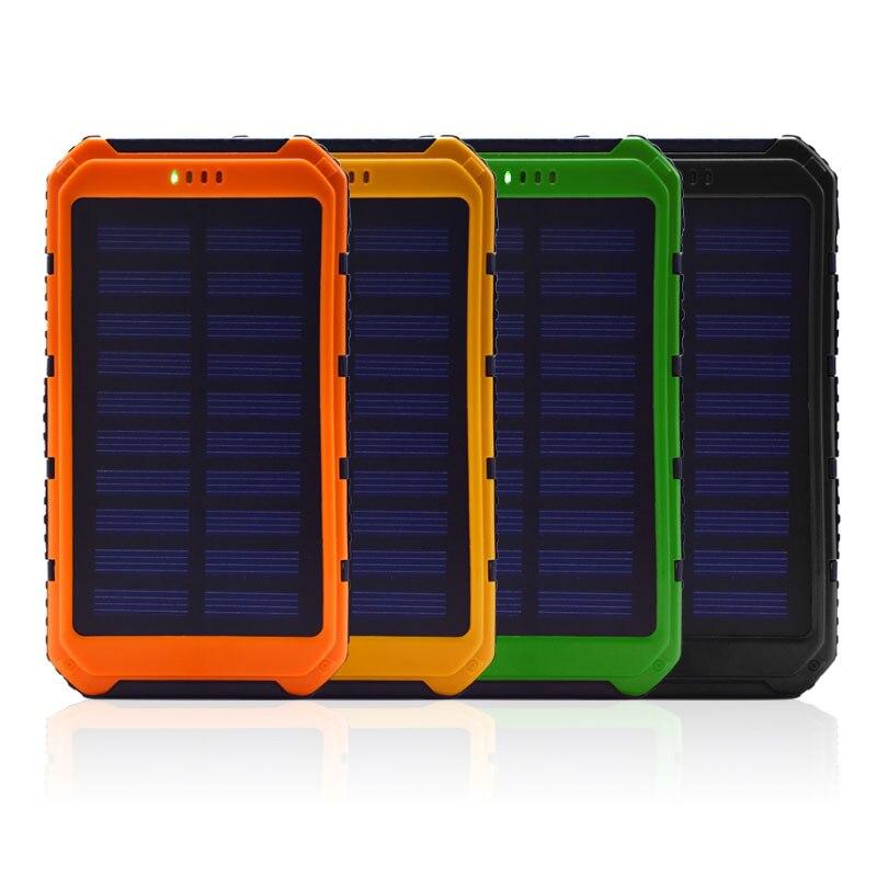 Power bank 5000 мАч Портативный Солнечная powerbank Extreme мобильного телефона Батарея случае Зарядное устройство обновления Dual USB светодиодный для всех…