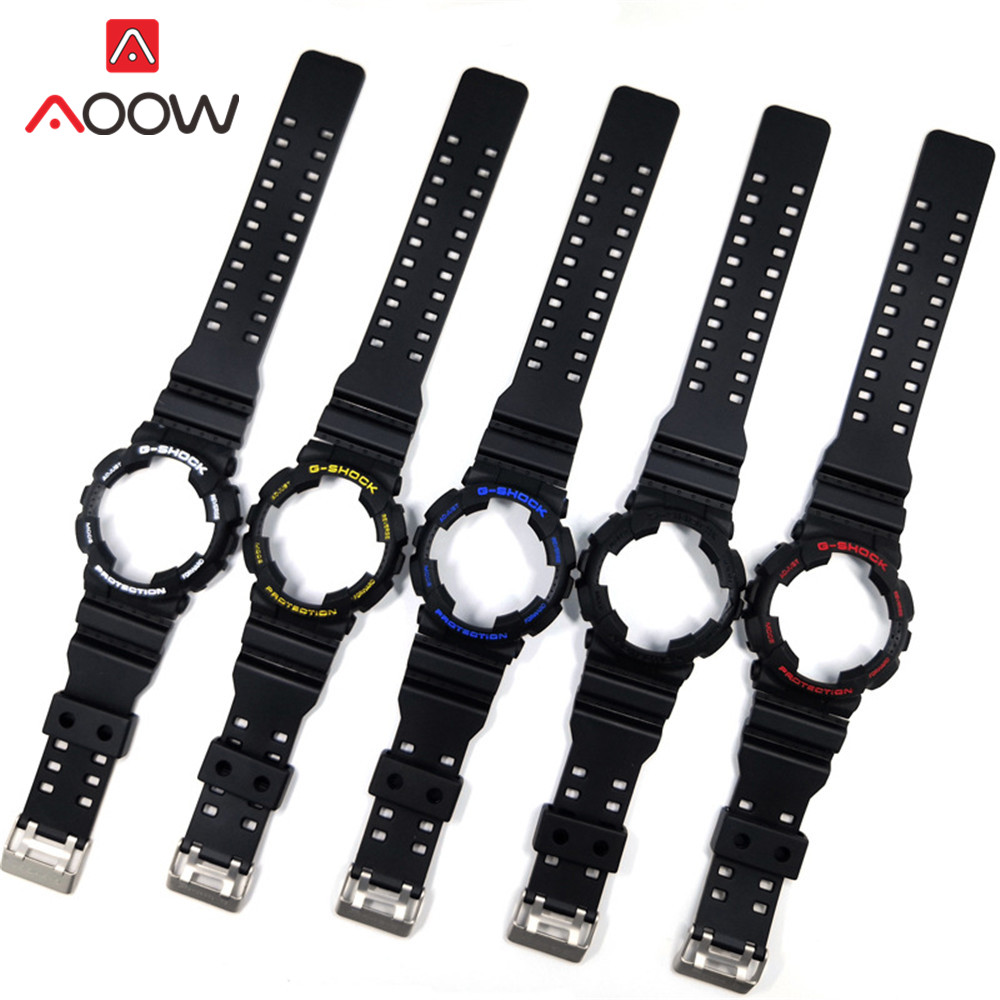 Soft Silicone Band Case For Casio G-SHOCK GA110 GA100 Rubber Sport Replacement Watchband Strap Bracelet Accessories And Tools