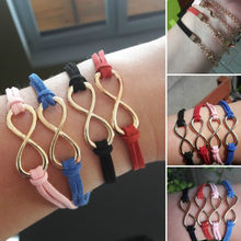 1 Pcs Sell New Fashion New Jewelry Accessories Simple Colorful 8 Shape Velvet Bracelets Women Engagement Gifts For Girls One(China)