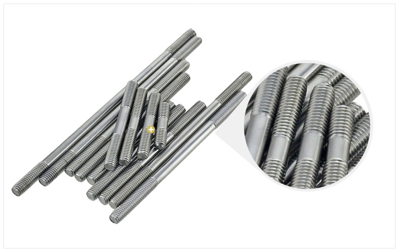 цена на M10 M10*250 M10x250 304 Stainless Steel 304ss DIN835 Dual Head Screw Headless Double End Thread Rod Bolt Stud