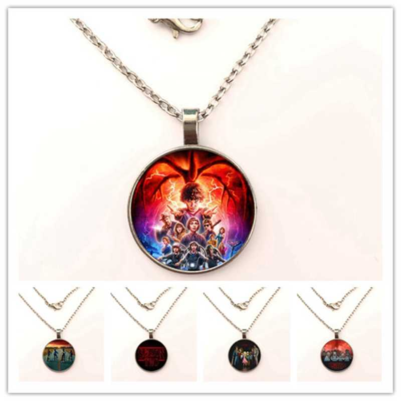 GDRGYB 2019 Stranger Things The necklace 3D Character Design Handmade Glass Photo The necklace Movies Jewelry