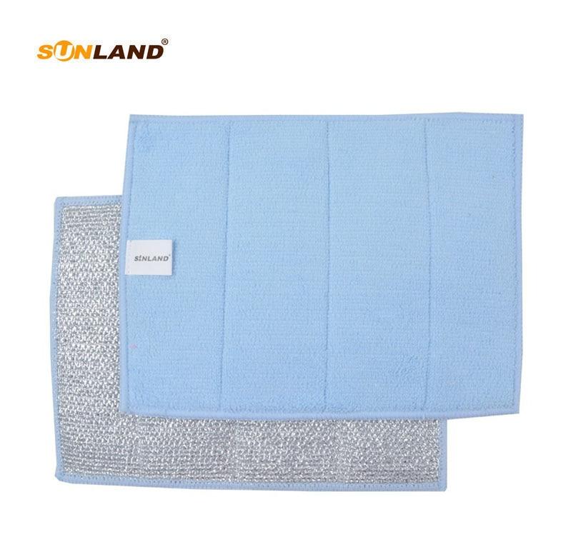 Sinland kétoldalas mikroszálas súroló főzőlap és sütőedény törlőkendők tisztítószerrel 17x23cm