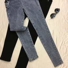 Women Fashion New Jeans Ankle-length Pants Europe Hot Sale Lace-Up Bowknot Slim Pencil Pants Stylish Panter Female