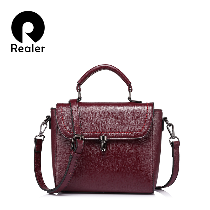 REALER brand new fashion women messenger bag female high quality shoulder crossbody bags ladies  designer handbag famous brands handbag