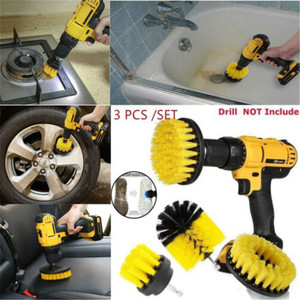 Electric Drill Brush Kit Tile Grout Scrubber Cleaning Drill Nylon Brushes Tub Cleaner Kit Wood Grinding Polishing Tool
