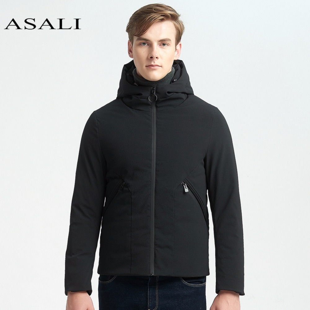 ASALI Winter Jacket Men Thick Casual Men Short Coat For Male Stand Collar Parka Threaded Cuffs Windproof Warm Snow Down Coat hot sale clothing 2016 newest men parka winter jacket fashion quality padded stand collar single breasted short coat for male