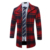 Diseño abrigo de lana de Los Hombres Gabardina larga Casual 2016 Invierno Flojo Ocasional Medio-larga de Lana mezcla Traje de Tela Escocesa Caliente abrigo Masculino N82