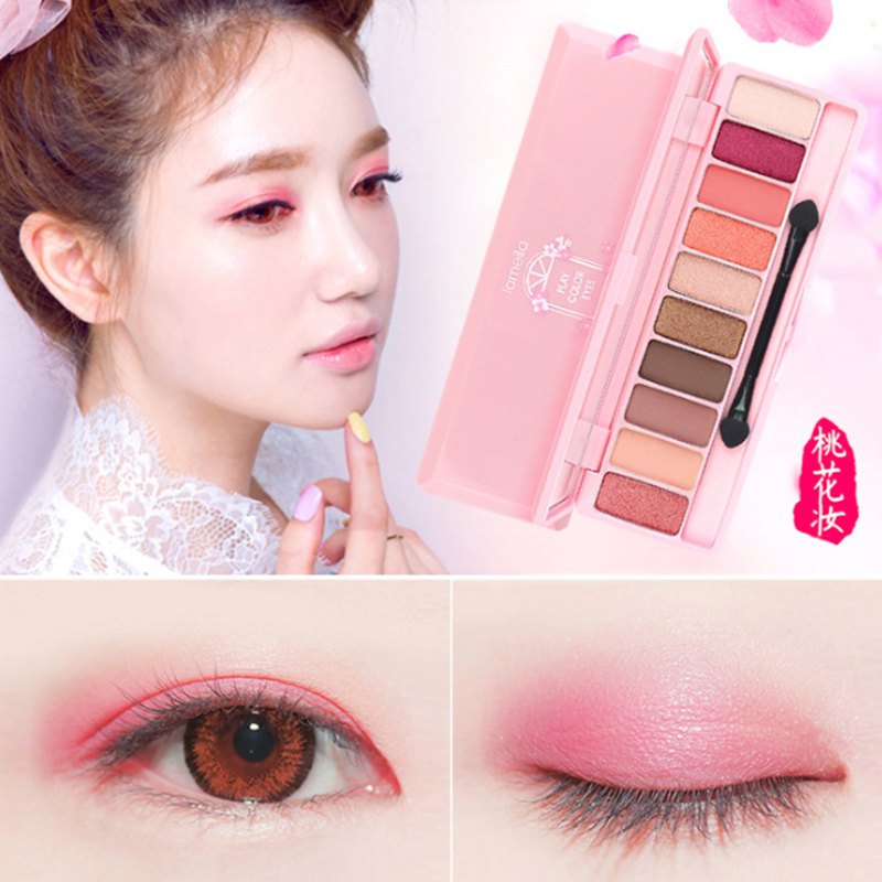 Lameila Brand 10or12 Color Eye Shadow Of Cherry Blossoms Suit Pearl Light Dumb Light Lasting Coloration Waterproof Eye Shadow Eye Shadow