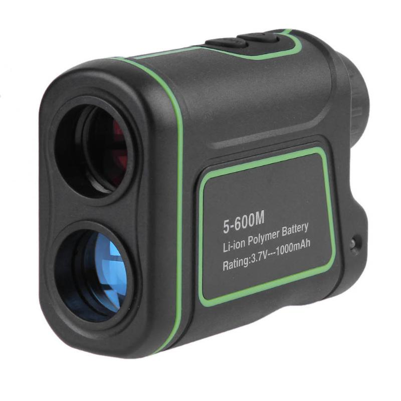Laser Range Finder 5-600m Handheld 6X Laser Range Finder Monocular Distance Speed Angle Meter Telescope for Golf Hunting