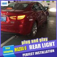 Araba Styling Mazda 6 Arka Lambaları 2014-2015 Yeni Mazda 6 için LED Kuyruk Işık LED Arka Lambası DRL + fren + Parkı + Sinyal