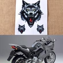 CITALL Vinyl Funny Wolf Head Sticker Decal for Honda VW Audi Nissan Suzuki Yamaha Toyota Kia Motorcycle Motorbike Truck Helmet