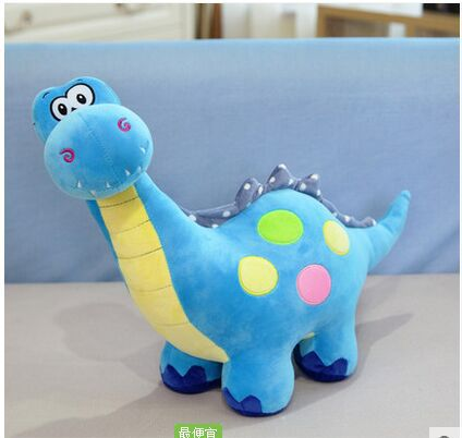 big lovely plush blue dinosaur toy cartoon spots dinosaurs doll gift about 70cm