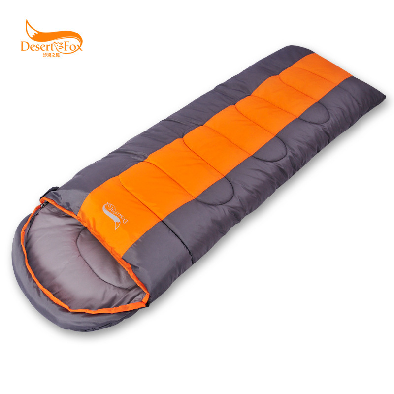 1.8kg Desert Fox outdoor sleeping bag envelope adult spring and winter sleeping bag Can be spliced Temperature scale -9~0~5C sam camel outdoor camouflage adult sleeping bag waterproof autumn and winter ultra light thermal indoor envelope sleeping bag