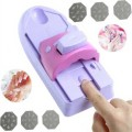 DIY Nail Art Tool machine stamping printing Colors Drawing polish Nail Printer Nail Art with 6 Metal Pattern Plates Design Kit