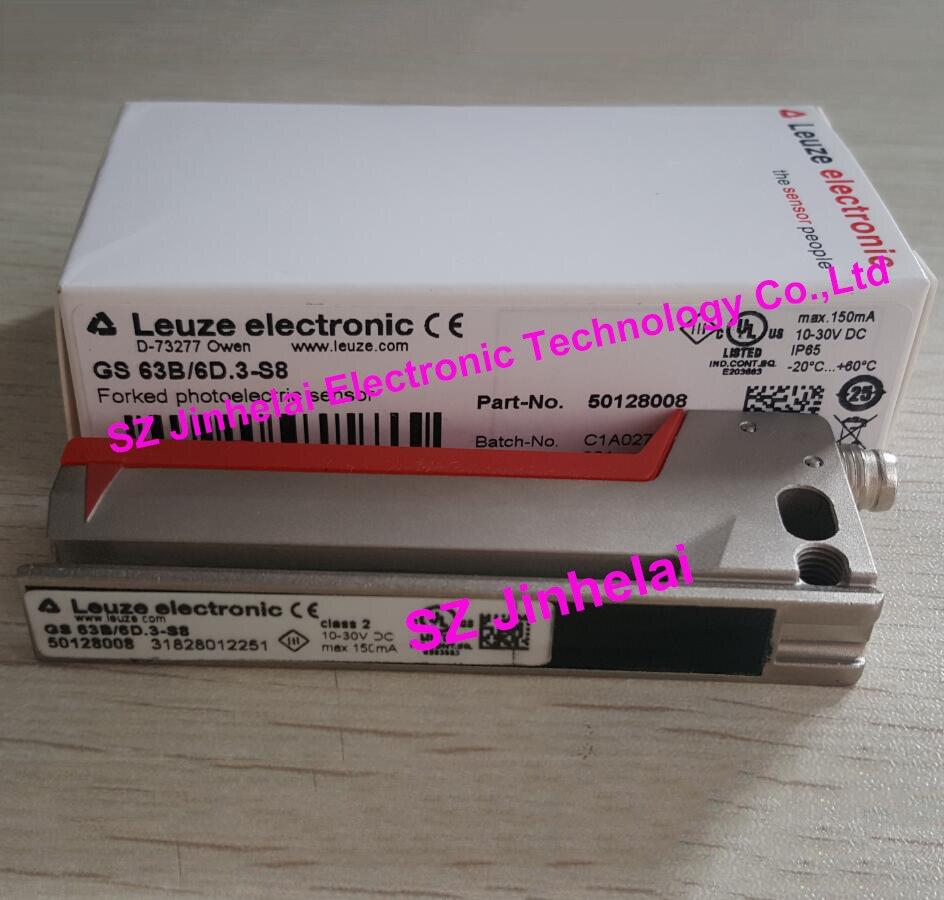 GS 63B/6D. 3-S8 nouveau et original allemagne LEUZE capteur photoélectrique fourché (substitution GS 63/6D. 3-S8)