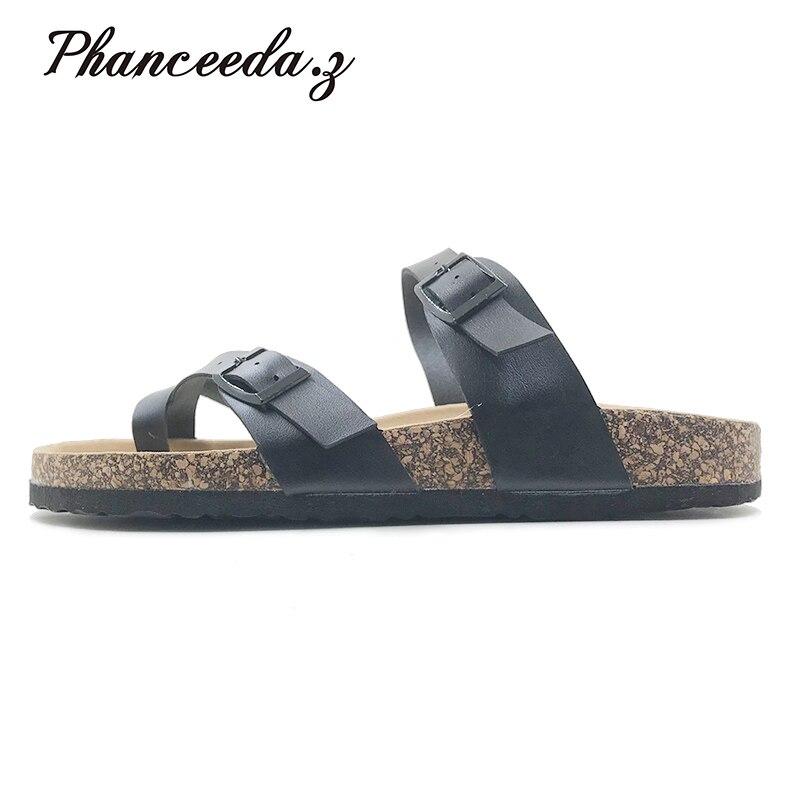 2018 verano estilo Zapatos Mujer Sandalias sandalias de corcho calidad superior Zapatos Mujer Zapatillas Casual Flip Flop tamaño grande 6- 11