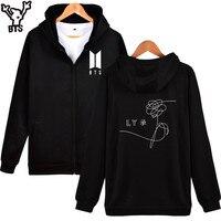 LUCKYFRIDAYF BTS Love Yourself Hoodies Sweatshirt Zipper Bangtan Album Autumn And Winter Hoodie Sweatshirt K Pop