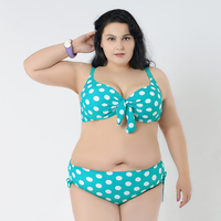 Plus Size Bikini Set Brazilian Sexy Swimwear Women Dot Print Beach Wear Low Waist Bottom Push