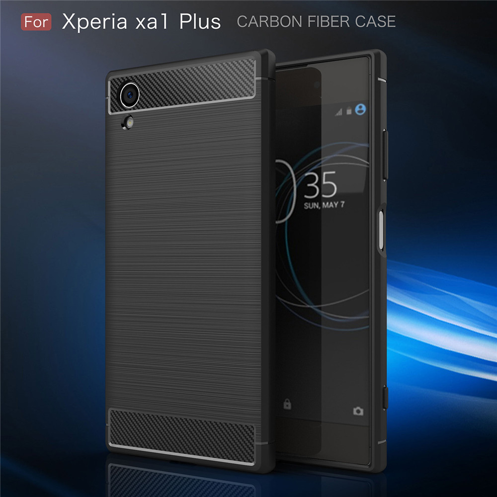 Fitted Cases for <font><b>Sony</b></font> Xperia XA1 Plus Dual G3412 <font><b>G3416</b></font> G3426 Soft Silicone Slim TPU Back Case Cover for <font><b>Sony</b></font> experia XA1 Plus image