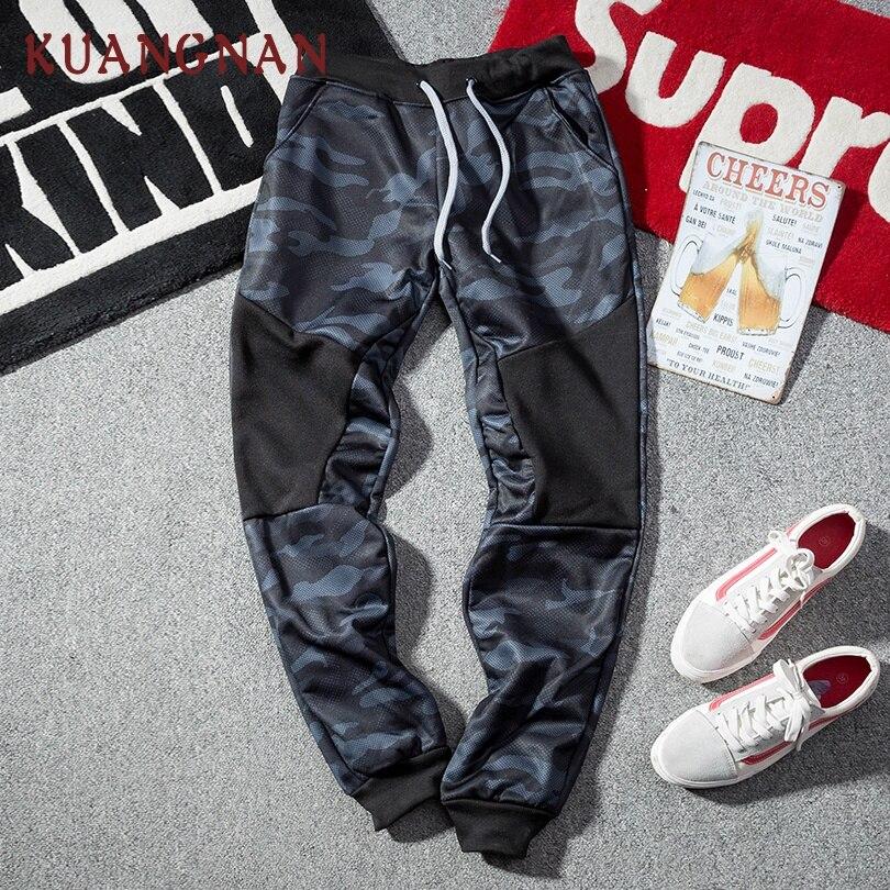 KUANGNAN Trousers Men Pants Camouflage-Pants Japanese Streetwear Hip-Hop XXL