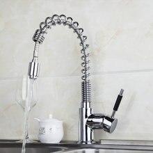 Поток Горячие/холодная вода кухня Cozinha torneira kpah 8547B-2 Палуба Гора Chrome Керамические латунь сосуд Раковина смесители, смеситель