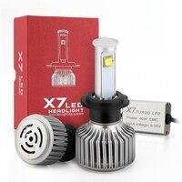 2Pcs H7 Led Car Headlight Single Beam Fog Light 6500K Head Lamp Fog Light Head Bulbs