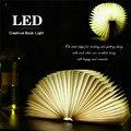 Criativo LED Booklight & Páginas Dobrável LED Livro Luz Da Noite Forma Quatro Cores Brilhantes de Luz Presente para Crianças Amante USB recarregável