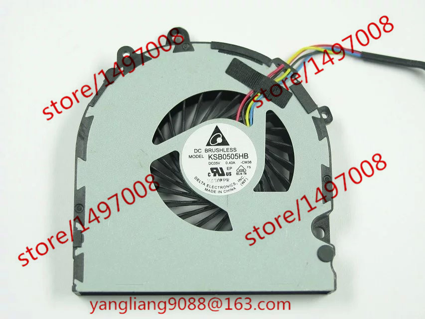 Free Shipping For Delta KSB0505HB, -CM38 DC 5V 0.40A 4-wire 4-pin connector 70mm Server Laptop Cooling fan free shipping for delta afc0612db 9j10r dc 12v 0 45a 60x60x15mm 60mm 3 wire 3 pin connector server square fan