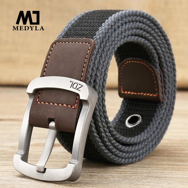 MEDYLA צבאי חגורת חיצוני טקטי חגורת גברים & נשים באיכות גבוהה בד חגורות ג 'ינס זכר יוקרה מקרית רצועות ceintures