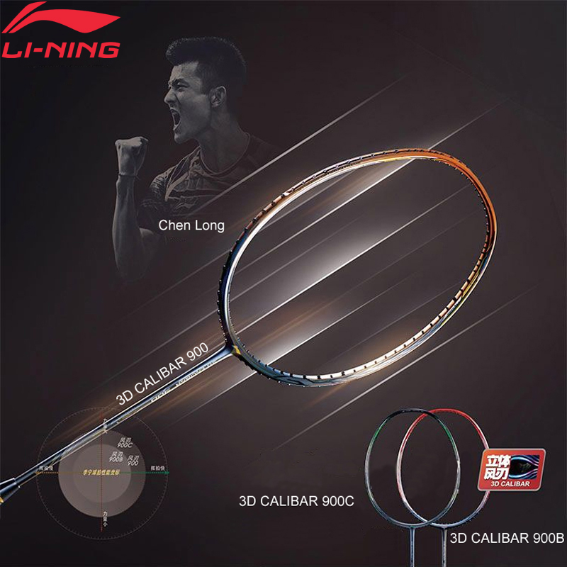 Li-Ning 3D CALIBAR 900/900B/900C Badminton Racket Chen Long Professional Single Racket No String AYPM426/AYPM428/AYPM438 ZYF303