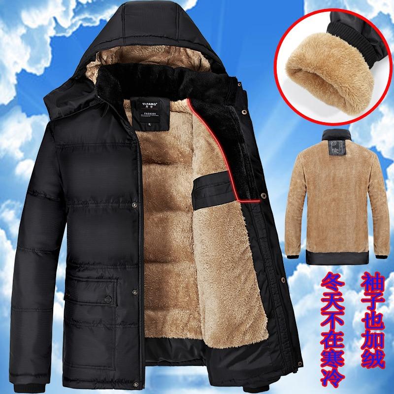 Dad thick Coat Winter Jacket M-7XL 8XL 9XL Men Warm Coat Parka Patchwork Mens Padded Jackets Stand Collar Coats Chaqueta Hombre