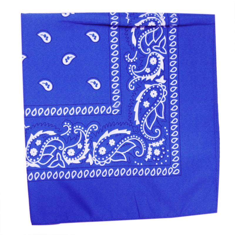 TKOH Royal blue Square Paisley Bandanas Double Sided Head   Wrap     Scarf   Wristband