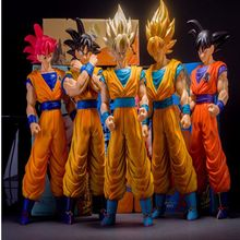 Japan's  Animation Dragon Ball Z  goku PVC action figure toys Large Super Saiyan goku model doll classic kids toys gifts