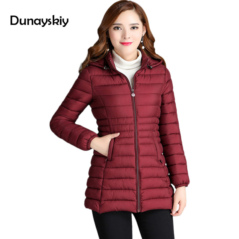 New Winter Jacket Warm Women Coats Female Parka Thick Cotton Padded Lining Ladies women chaquetas parkas winter coat Dunayskiy swenearo 2017 new women thick warm coat hooded high quality cotton padded winter jacket women ladies coats winter collection