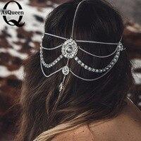 Fashoin Hair Accessories Tassel Bohemia Style Crystal Bead Shape Hair Ornaments Headbands