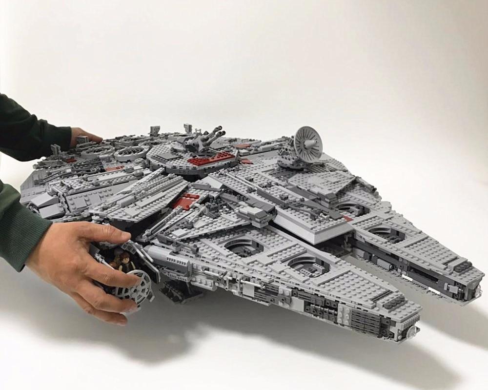 Lepin 05033 5265Pcs war Star Ultimate Collector Millennium Falcon Modell-Modul Ziegel Bildung Festival Geschenk 10179
