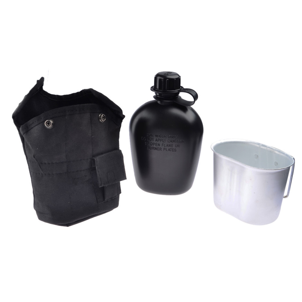 3PCS/Set Portable Canteen Tactical Water Bottle Army Cup Thermal Insulation Survival Kettle Military EDC Tool Kit Camping Hiking цены онлайн
