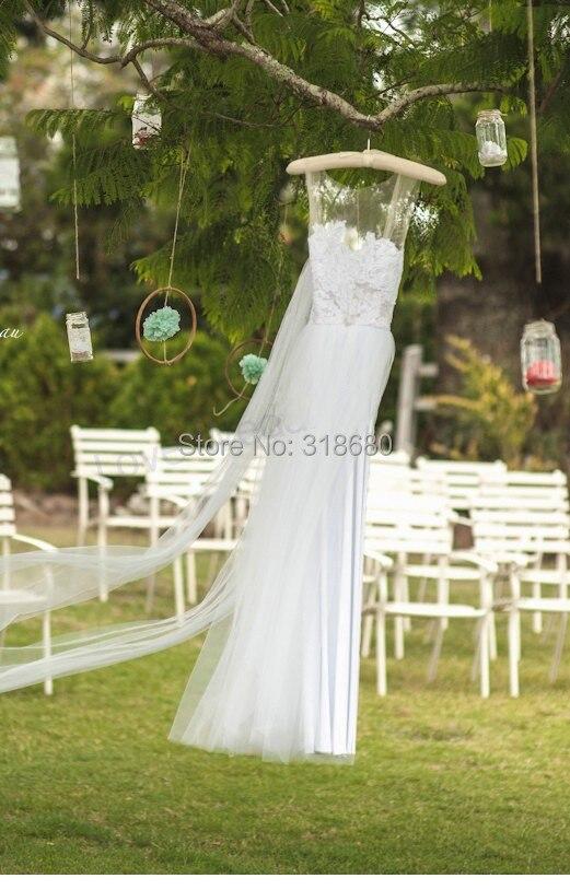 Nach Maß Taille Perlen bodenlangen Spitze Land Hochzeit Kleid ...