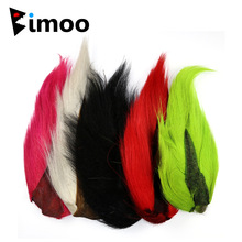 Bimoo Color Bucktail For Fly Tures Lures Streamers Jigs Deer Flokët Pink Green Green Blue Yellow Fly Tying Material
